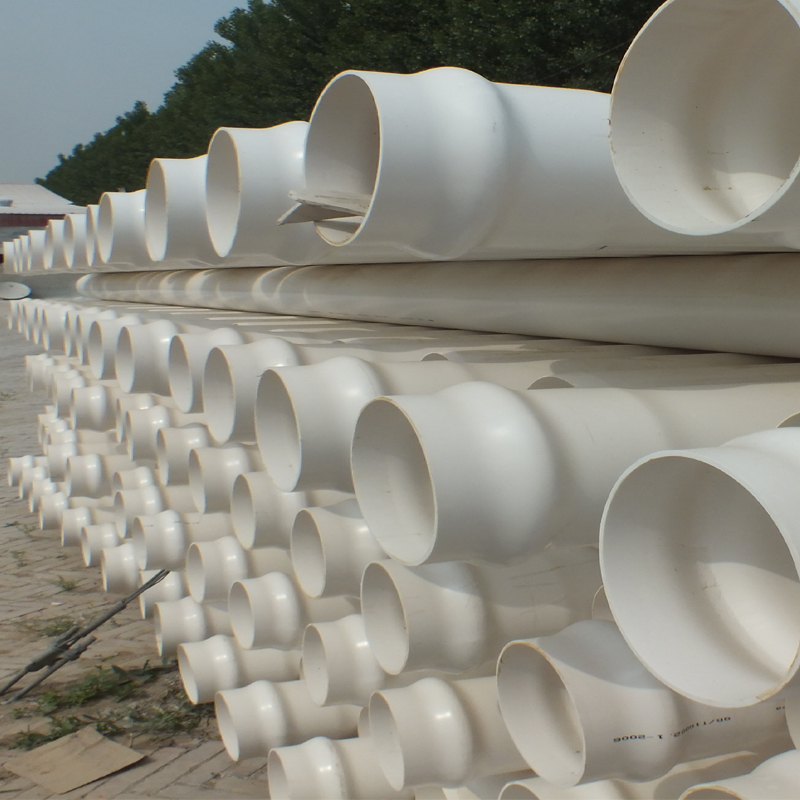 High quality PVC-U wall Spiral silencing pipe 75mm 110mm drainage tubes list for waste