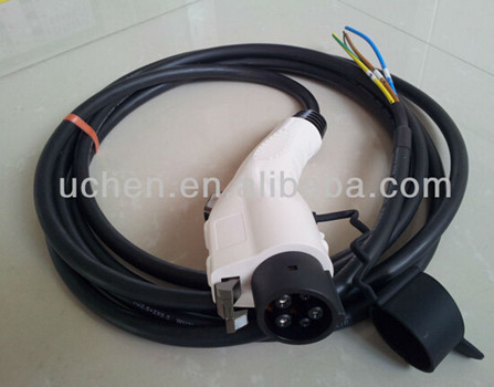 SAE J1772 Charge Coupler Connector with Cable / j1772 sae conectores