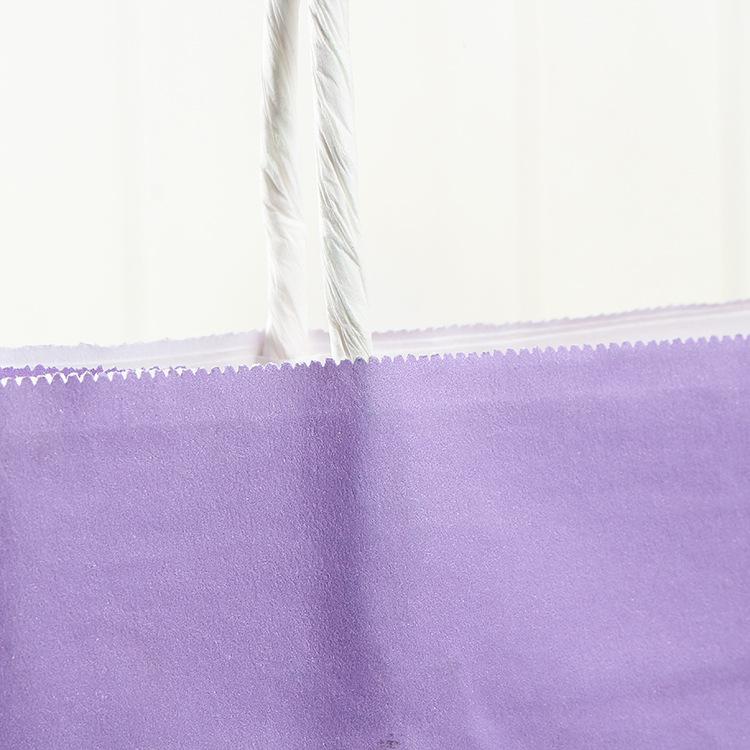 Kağıt kulplu Renkli Dikdörtgen Geri Dönüşümlü Kraft Kağıt Hediyelik Çantalar