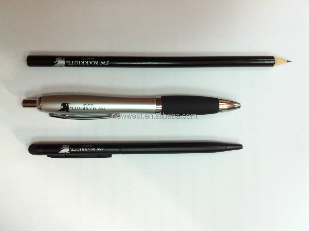 Black Customized Metal Pen For Hotels & Resorts
