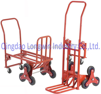 industrial folding wheeled luggage storage convertible hand truck cart - Convertible Hand Truck