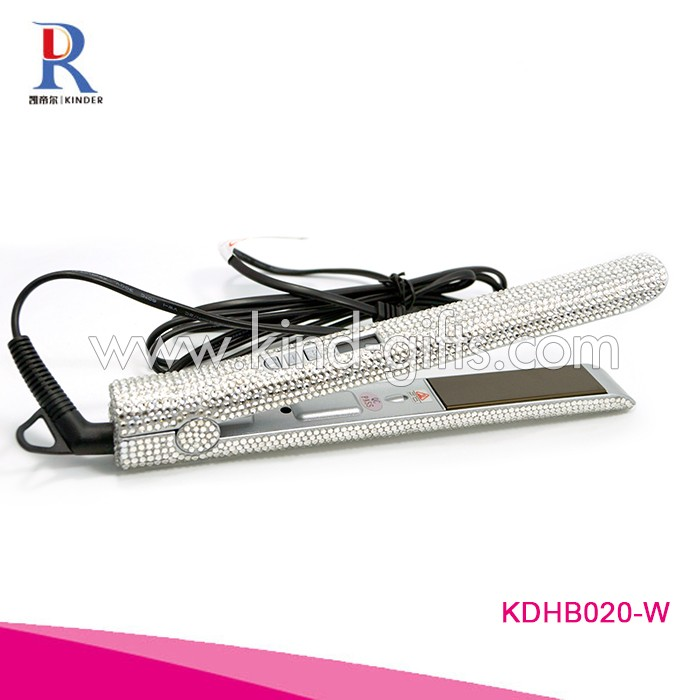Exquisite glitter bling crystal inlaid 450 degrees 240v personalized hair straightener hair flat iron