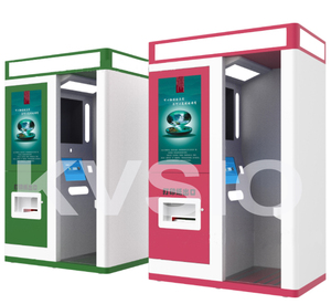 KVSIO Self service cash payment coin operated passport license ID card photo Kiosk /photo printing kiosk booth manufacturer