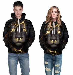 New Fashion Men/Women 3d Sweatshirts Print Paisley Lightning Lion Hoodies Autumn Winter Thin Hooded Pullovers Top