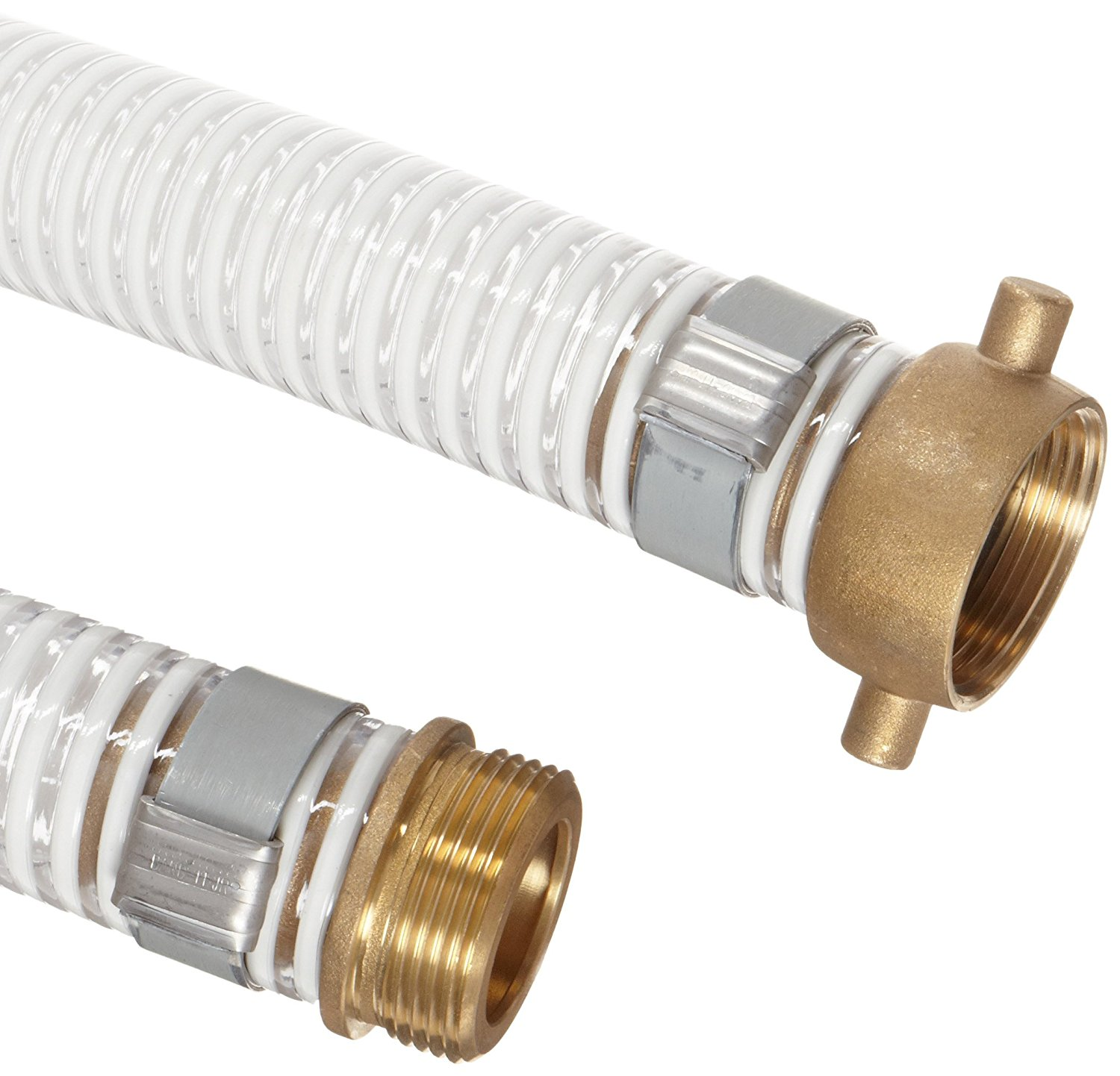 1-1//2 Aluminum NPSH Male x Brass Female Swivel Connection Goodyear EP Spiraflex Red PVC Suction//Discharge Hose Assembly 150 PSI Maximum Pressure 1-1//2 ID 25 Length