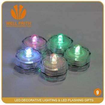 LED Christmas Party Decoration Float Submersible Tea Lights,LED Wedding  Decoration Vase Lights