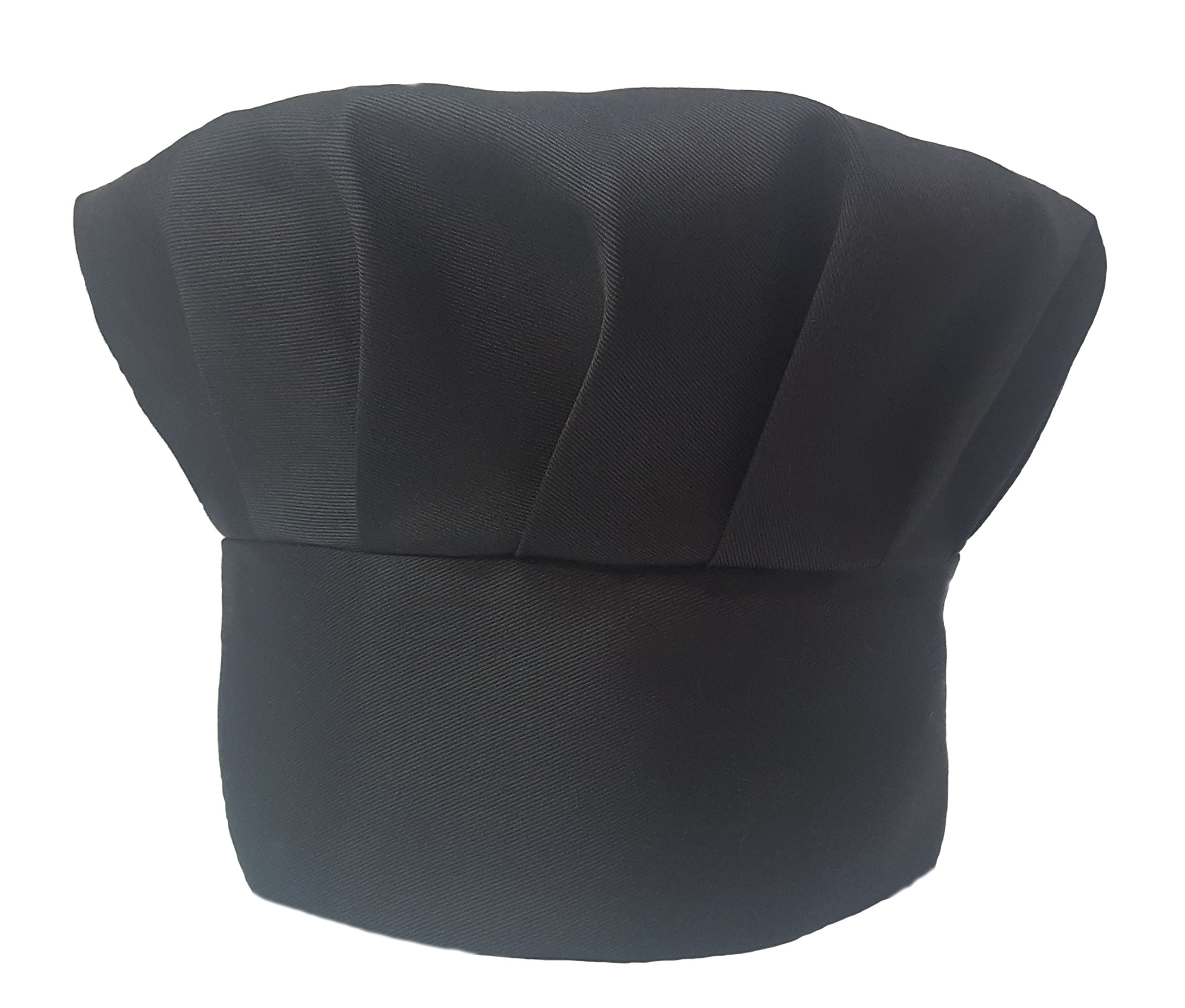 1a98ef564eeff Get Quotations · Obvious Chef - Black Chef Hat - Adjustable Velcro Fit -  Adult (Black)