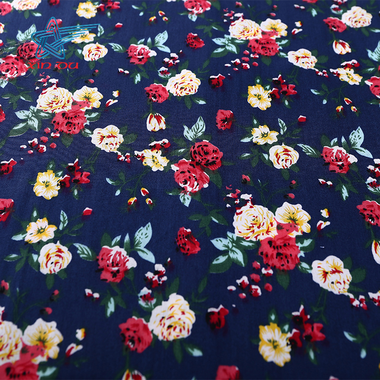 Individual customized custom floral shirt printed 100% cotton poplin fabric characteristics