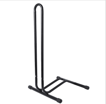 outdoor black  bicycle rack