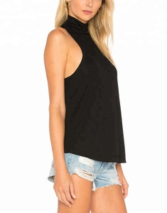 OEM high quality 100% cotton custom womens tank top
