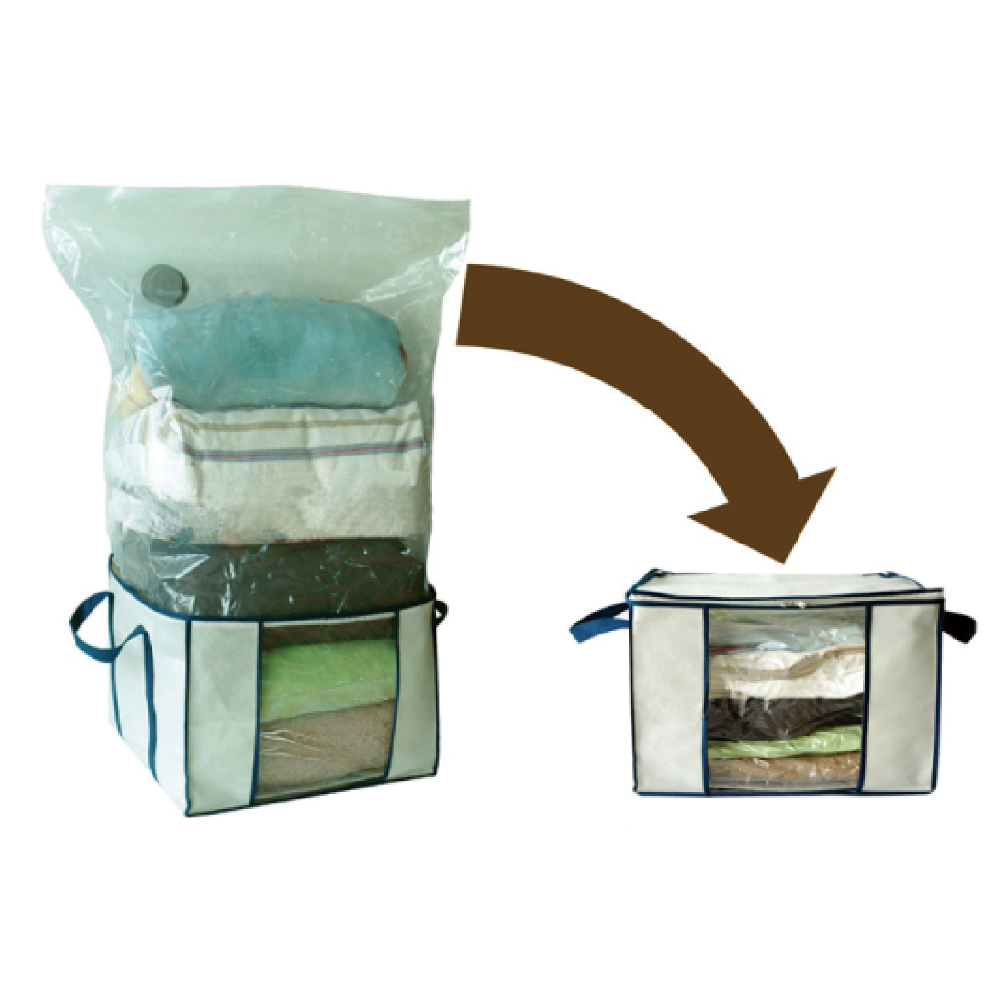 Space saver clothes packaging bag vacuum storage bag