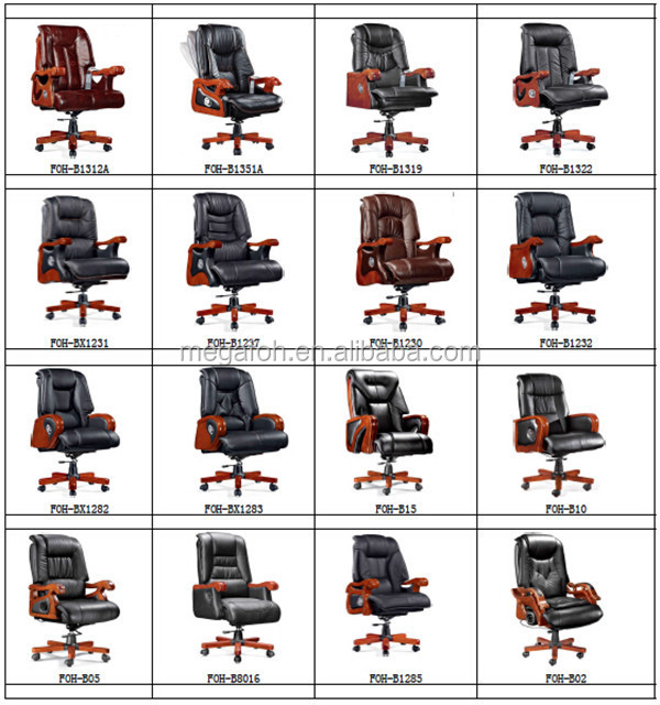Leather Captains Chair/general Manager Chair/reclining Office Chair (FOH 9926)