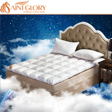 china 100% cotton white Quilted hotel soft quality goose duck feather down massage Mattress Topper