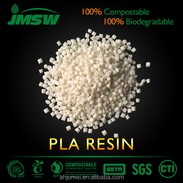 EN13432 certificated PLA resin,PLA biodegradable plastic pellets
