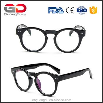 Women Fashion Round Glasses Frame Vintage Rivet Prescription Myopia ...