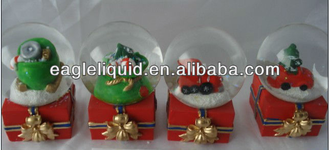 red base snow man water globes snow crystal ball