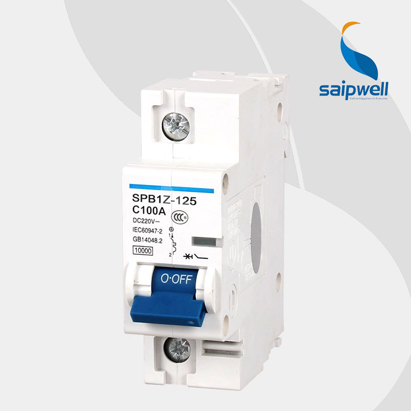 SAIP/SAIPWELL 1 Pole DC125/220V 100A IP65 Electrical Circuit Breaker MCB MCCB