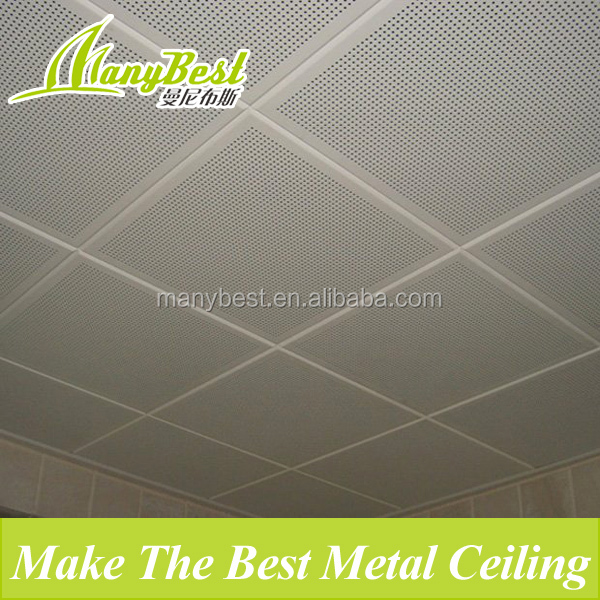2017 Aluminum 600*600 clip in ceiling tile