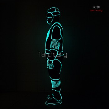 TC-037 tron dance light up led tron costume & Tc-037 Tron Dance Light Up Led Tron Costume - Buy Led Dance Costume ...