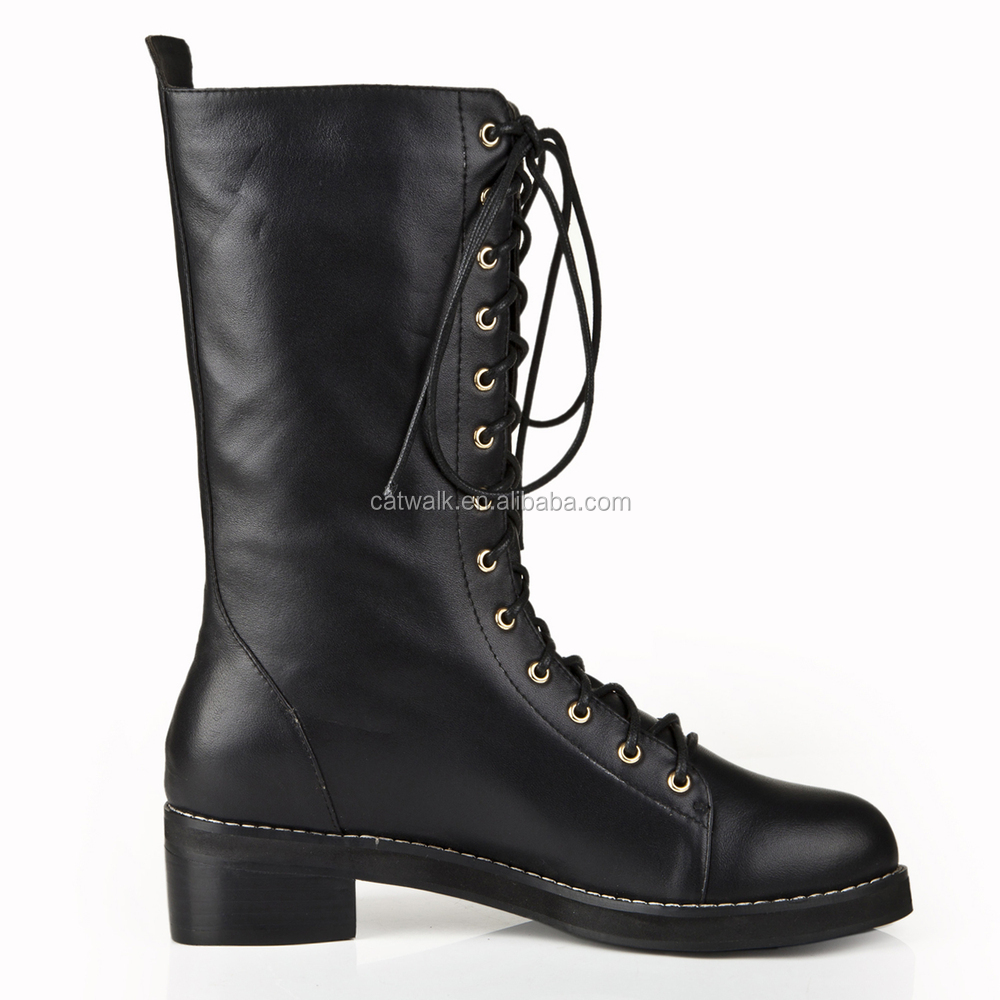 Lace Up Ankle Boots Women Side Zipper Women Winter Shoes Women ...