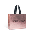 high quality eco laminated tnt pink non woven fabric tote carrier shopping packaging bag for fashion shop