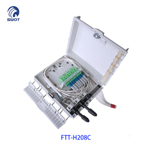 Shenzhen FTTH indoor or outdoor mini 8 port fiber optic terminal box 1x4 /1x8 plc splitter box FTT-H208C