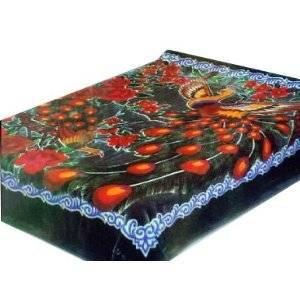 Solaron Queen Peacock Korean Mink Blanket
