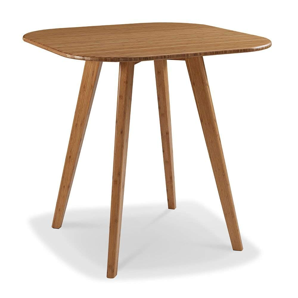 """Currant Solid Bamboo Counter Height Table Caramelized Solid Bamboo Dimensions: 36""""W X 36""""D X 36""""H Weight: 48 Lbs"""