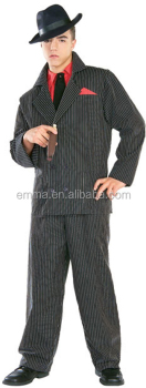 high quality halloween fancy dress sexy carnival zoot suit gangster costumes for adult men bmg - Halloween Mobster Costumes