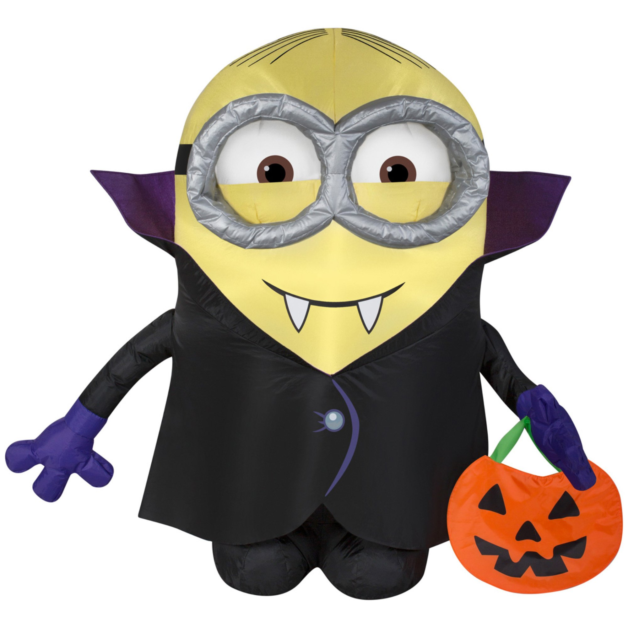 get quotations gemmy airblown inflatable minion dressed as dracula holding a pumpkin tote indoor outdoor holiday decoration