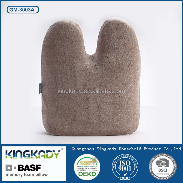 High quality lumbar support jacquard velvet non-slip chair memory foam seat cushion