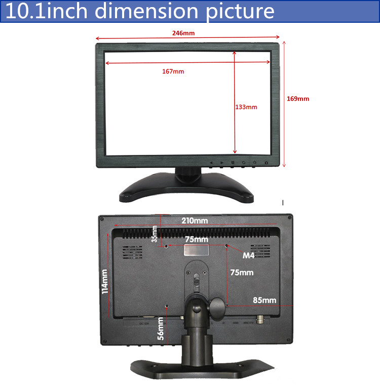 OSCY 10.1 touch screen usb monitor
