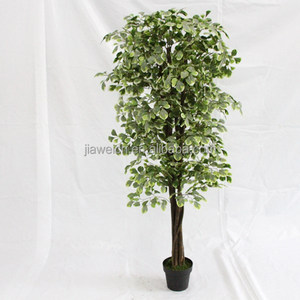 Newest design house decoration wood trunk artificial money trees