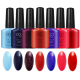 CCO 7.3ml nail polish spray soak off uv gel lidan 183 colors nail polish color card for nail art design uv gel camouflage