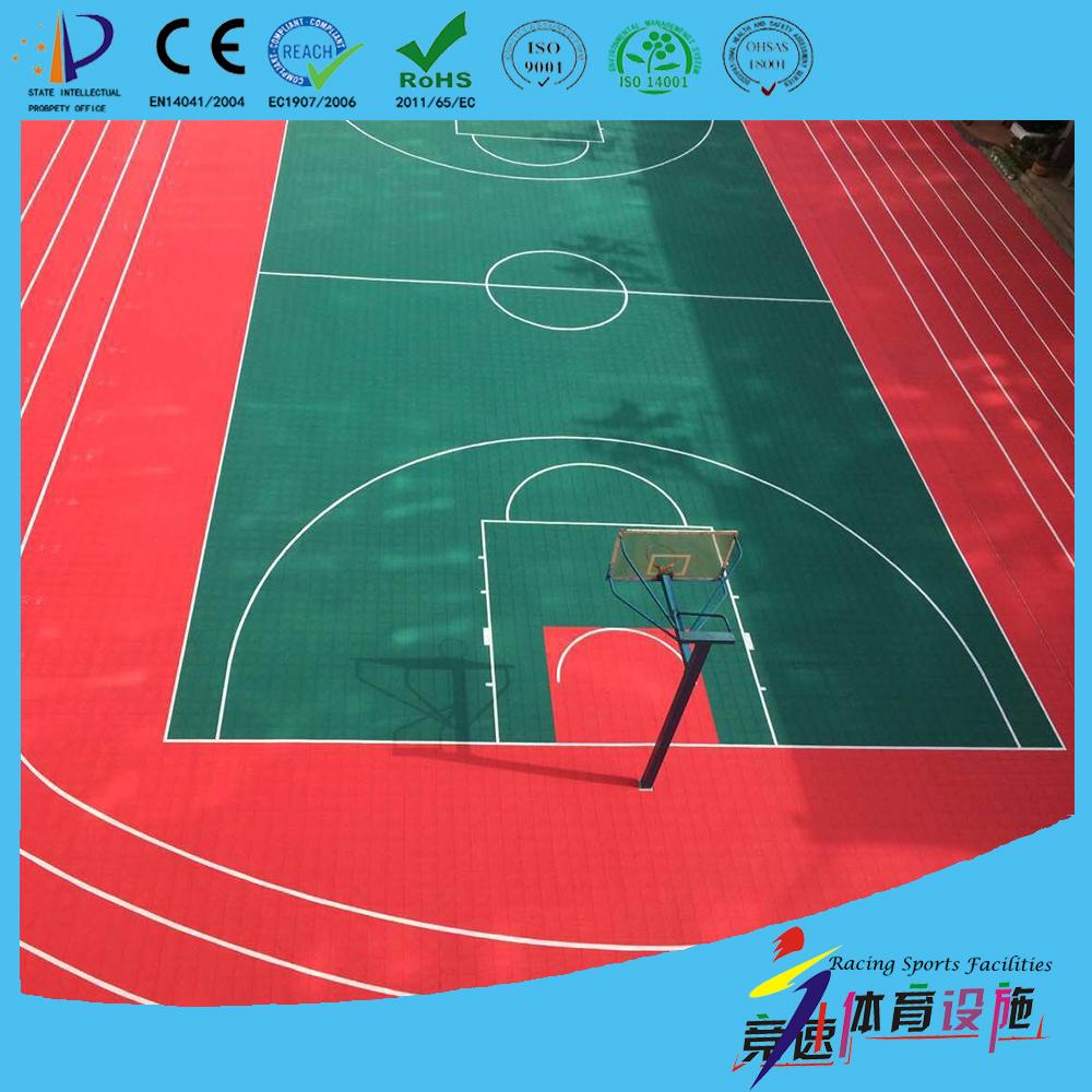 Weatherproof outdoor basketball flooring basketball court for Sport court cost