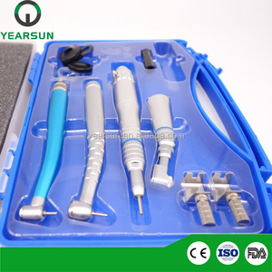 Beautiful handpiece dental kit with colored high and low speed handpiece dental product china