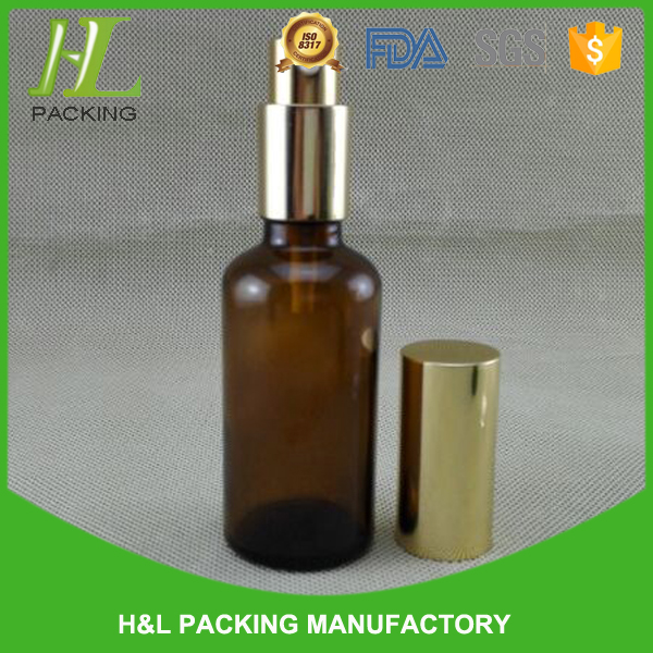 hot sale 30ml amber glass chemical resistant spray bottle for perfume