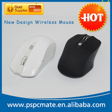 New mouse in black colour unique RF 2.4g optical classic advertising wireless mouse
