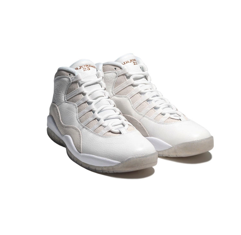 big sale b2940 fb798 Jordan Nike Mens Air 10 Retro OVO Drake Summit White Metallic Gold Leather  Size 14