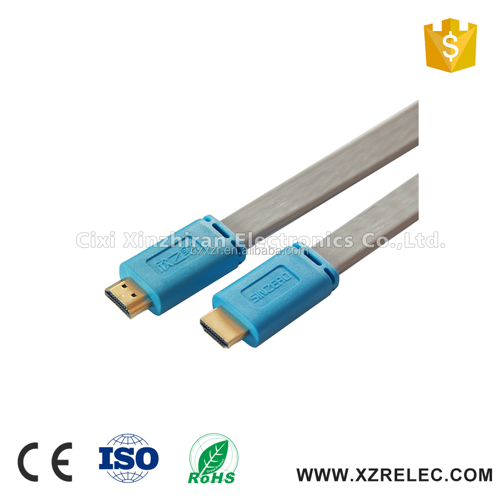 High Premium Male to Male Flat HDMI Cable 2.0 5m for 3D DVD