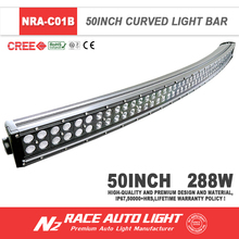 Factory Arced Led Light Bar Curved Led Light Bar 96pcs*3W 50 inch arc-shaped arced camber Offroad led light bar