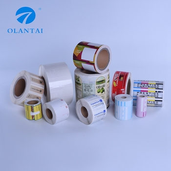Custom Colorful Adhesive Sticker Round Roll adhesive Labels
