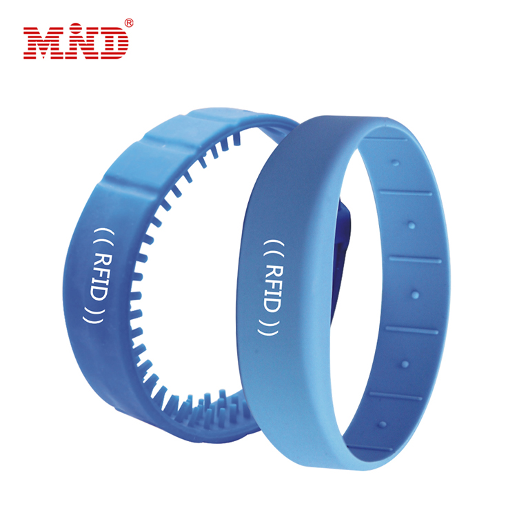 Fitness Center adjustable rfid silicon wristband custom