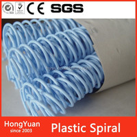 Writing Accessories binding material plastic spiral wire,book binding binding plastic coil wire spiral,plastic book binding spir