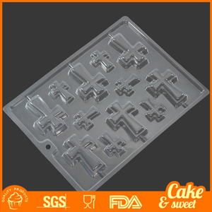 Newest styles plastic chocolate mold and candy mold