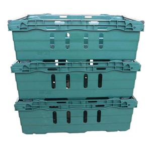 Cheap Nestable And Stackable Plastic Bale Arm Tray Food Distribution Crates