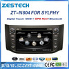 double din car dvd gps for Nissan Bluebird SYLPHY/Sentra touch screen dvd gps radio navigation system car pc monitor tv audio