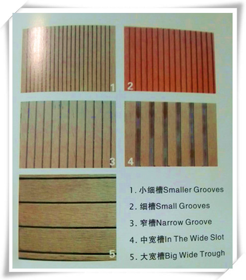 Newest design swimming usage waterproof WPC outdoor decking