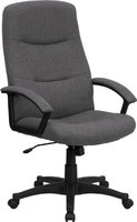 High Back Gray Fabric Executive Swivel Office Chair