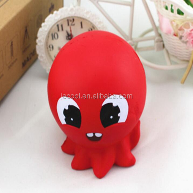 New Arrival Jumbo Squishy octopus Kawaii Cute Slow Rising Sweet Scented Vent Charms